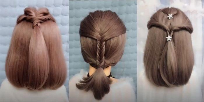 kiểu tóc ngắn mặc áo dài