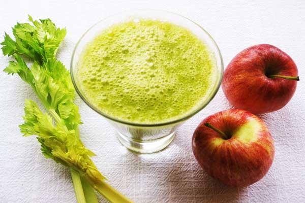 nước ép cần tây và táo