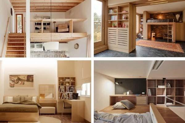Cách trang trí phòng ngủ trên gác xép
